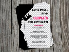 Rock Climbing for Girls Birthday Party Invitation or Thank You Card - You Print