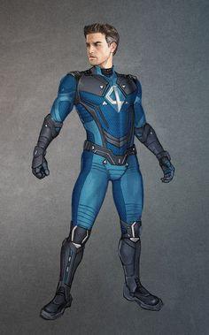 Awesome Fantastic Four Fan Concept Art Marvel Dc, Marvel Comics Art, Marvel Heroes, Captain Marvel, Superhero Suits, Superhero Characters, Superhero Design, Mister Fantastic, Fantastic Four