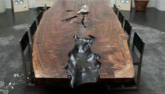BDDW WALNUT SLAB TABLE