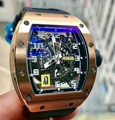 The sexy Richard Mille in Rose Gold by - Who's an RM fan 👀 ~ 📸 Cool Watches, Watches For Men, Richard Mille, Future Fashion, Luxury Watches, Rose Gold, Mens Fashion, Jets, Track