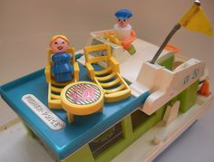 Vintage Fisher Price Boat and Little People. via Etsy.