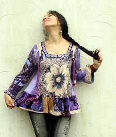 Reserved for Bonnie romantic floral magical recycled by jamfashion