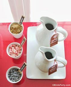 Bar à Chocolat Chaud #chocolat #bar #chocolatchaud #recettes