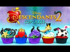Disney Descendants Birthday Party Ideas and Themed Supplies The Descendants, Disney Cupcakes, 6th Birthday Parties, 8th Birthday, Birthday Ideas, Cupcakes Gourmet, Cupcake Recipes, Villains Party, Disney Decendants