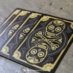 Muertos is an original set of American playing cards designed by Steve Minty and produced by the United States Playing Card Company (USPCC).
