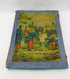 3 puzzles in doos, Imp.Tourangele, Tours, Frankrijk ca 1890