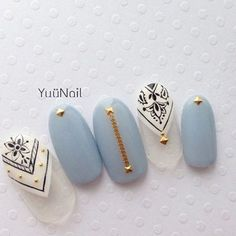 Beautiful nail art designs that are just too cute to resist. It's time to try out something new with your nail art. Nail Polish Designs, Cute Nail Designs, Gorgeous Nails, Pretty Nails, Blue Nails, My Nails, Nail Art Inspiration, Crazy Nails, Crazy Summer Nails