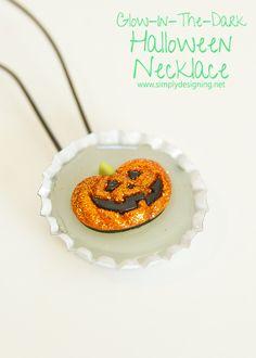 Glow In The Dark Halloween Necklace   #halloweencraft #jewelry #glowinthedark #craft