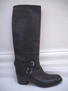 RALPH LAUREN COLLECTION $1,100 black leather
