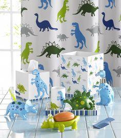 Comfeel.ru. Kassatex Стакан для зубных щеток Dino Park  Kids Shower Curtain