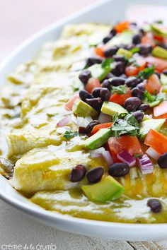 Avocado Black Bean Enchiladas {skinny}