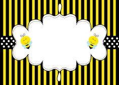 Abelhinha convite preto e amarelo
