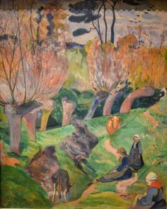 Paul Gauguin - Landscape from Bretagne, 1889 at National Museum of Art Oslo Norway