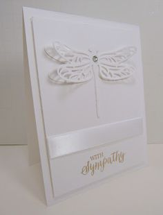 Personally Yours: Monochromatic Monday: Sympathy Detailed Dragonfly Thinlits