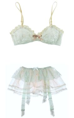 Eberjey 'Annie' Bralet and Agent Provocateur 'Pamelina' Lace & Tulle Garter Belt