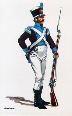 Spanish; Regimiento de Medina Sidonia, Fusilier, 1813