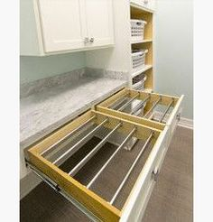 Idea :: Laundry Room Drying Rack Drawers