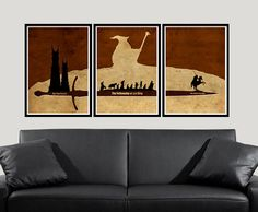 I LOVE IT!!!!! The Lord Of The Rings Minimalist Inspired Posters by MultiColorArt, $40.00