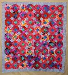 Blooms Quilt | 65 x 65 - quilt by Pauline Smith fromCountry … | Flickr