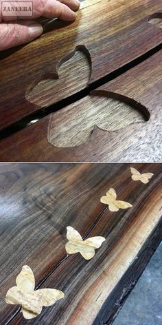 Butterfly inlays :: before & after