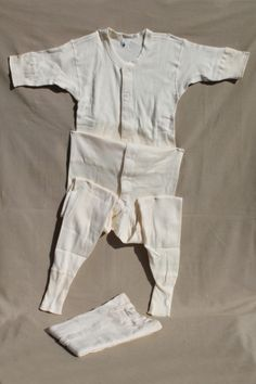 Vintage Munsingwear natural cotton union suits, unworn long johns winter underwear Union Suit, Long Johns, Suits, Winter, Retro Vintage, Vintage Outfits, Underwear, Natural, How To Wear