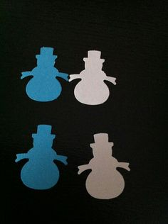 Blue and White Snowman Confetti150 pieces by CassCouture12 on Etsy, $4.00