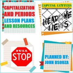JOHN'S JOURNAL: CAPITALIZATION & PERIODS: LESSON PLANS & RESOURCES...