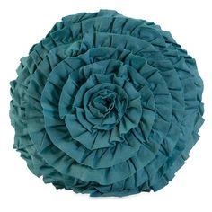 Vibrant Blue Flower Pillow.