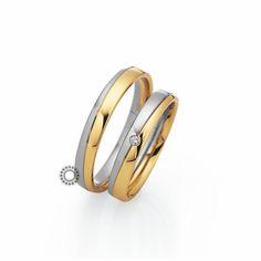 Βέρες γάμου Saint Maurice 87060 & 87061 - Συλλογή LIGHT - Δίχρωμες βέρες σε ματ λευκό & γυαλιστερό κίτρινο χρυσό | Βέρες ΤΣΑΛΔΑΡΗΣ #βέρες #βερες #γάμου #αρραβώνων