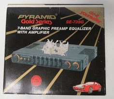 Vintage Pyramid Gold Series SE739G 7 Band Graphic Preamp EQ With Amplifier NOS #Pyramid