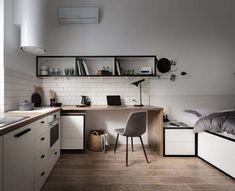 Это крошечное пространство площадью 17,3 квадратных метра было спроектировано дизайнерами Fateeva Design для сдачи в аренду