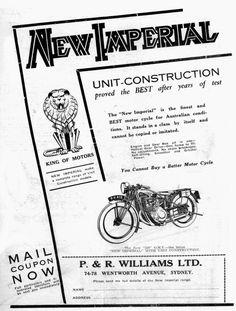 60 best 1 motorcycle advertising australia images in 2019 KTM Enduros 1970s 1935 new imperial australia advertisement