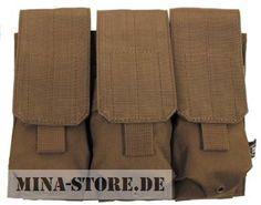 """mina-store.de - Magazintasche dreifach """"MOLLE"""" Modular System coyote tan"""