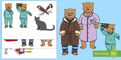 Peace at Last Story Cut-Outs - Peace at Last, Jill Murphy Primary Resources, Autism Resources, Jill Murphy, Peace At Last, English Projects, Fiction Stories, Reading Stories, Kids Education, Cut Outs