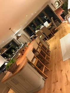 Country Kitchen. - Kitchen Units: Benchmarx - Lights - Dunelm - Chairs - World Furniture