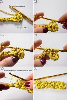 jasmine stitch cushion on the LoveCrochet blog