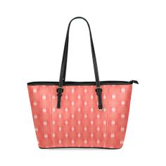 Festival Peach Leather Tote Bag/Small (Model 1640)