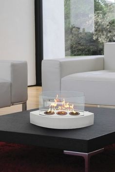{Lexington Tabletop Fireplace} cool!