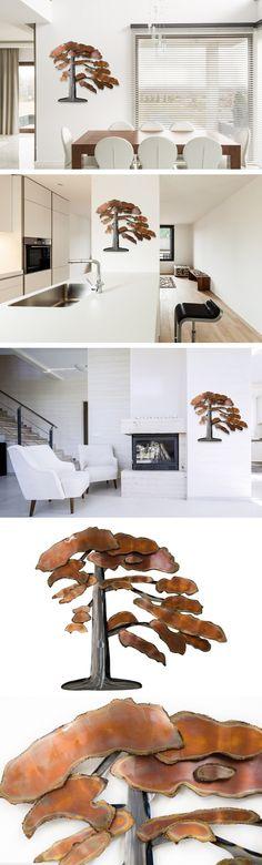 Extravagante KunstLoft® Metall Wandskulptur u0027Rusty Bonsai - küchen wand deko