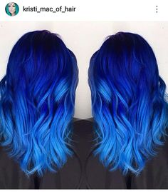 Are you looking for dark blue hair color for ombre and teal? See our collection full of dark blue hair color for ombre and teal and get inspired! Dark Blue Hair, Hair Color Blue, Cool Hair Color, Black Hair, Bright Blue Hair, Colorful Hair, Bright Hair Colors, Blue Hombre Hair, Light Blue Ombre Hair