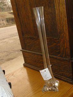 tall crystal vase