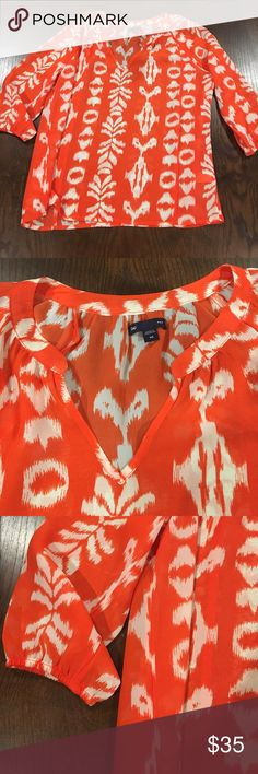 Sheer and comfortable blouse Perfect summer blouse . Light and comfortable. Worn once. Like new GAP Tops Blouses