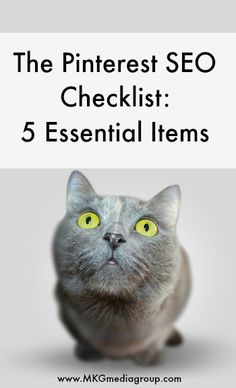 Find out the five essential items to maximize your organic visibility. Article written by Adam Bullock of MKG Media Group. www.mcngmarketing.com/pinterest-seo-checklist/