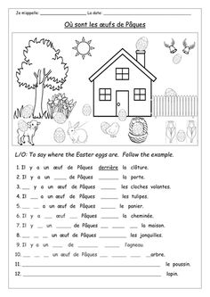 A selection of activities in French for Easter. Covers: colours, numbers, prepositions and the expression 'il y a' and of course the focus is on Easter voc. French Flashcards, French Worksheets, French Teaching Resources, Teaching French, French Lessons For Beginners, French Prepositions, Basic French Words, Free Reading Comprehension Worksheets, French Language Lessons