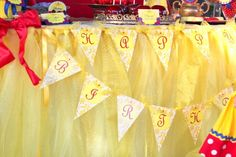 SNOW WHITE Party Banner Girls Birthday Party por KROWNKREATIONS