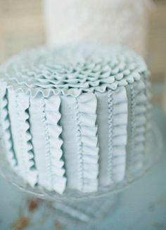Blue Ribbon Ruffle Cake