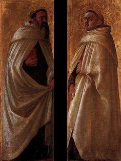 Two panels from the Pisa Altarpiece 1426 Poplar, 38 x 13 cm (each) Staatliche Museen, Berlin