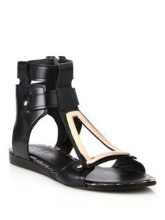 Ivy Kirzhner - Intrepid Embellished Leather Sandals