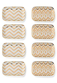 mini appetizer plates (set of 8). i'm in love!