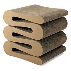 Cardboard Furniture - Wiggle Stool, Frank Gehry, 1972